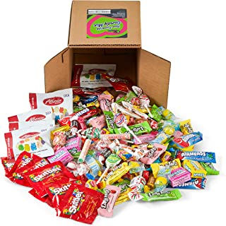 Your Favorite Party Mix Of Brand Name Candy! - A 6X6 Box (3.5 lb.- 56 oz.) of Gummi Bears, Airheads, Laffy Taffy, Tootsie Rolls, Skittles, Lemon Heads, Jaw Busters & More By Snackadilly