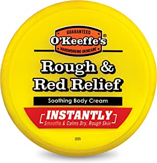 O'Keeffe's Rough & Red Relief Soothing Body Cream for Rough and Bumpy Skin, 8 ounce, Jar