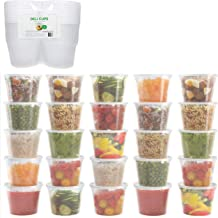 Healthy Packers Extra Thick Food Storage Containers with Lids (16oz - 24 Pack) - Great for Slime - Deli Pint Cups - Soup C...