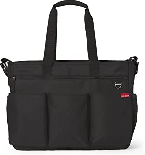 Skip Hop Diaper Bag Tote for Double Strollers with Matching Changing Pad, Duo Signature, Black