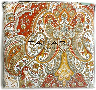 Tahari Home 300 Thread Count Cotton Boho Style Moroccan Paisley Medallion Duvet Cover with 2 Pillow Shams, Queen