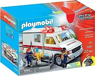 Playmobil 5555 Rescue Ambulance Toy 5681 (Renewed)