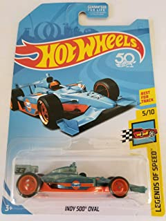 2018 Hot Wheels Super Treasure Hunt Hw Speed Graphics - Indy 500 Oval (TH Logo with Real Riders Tires)