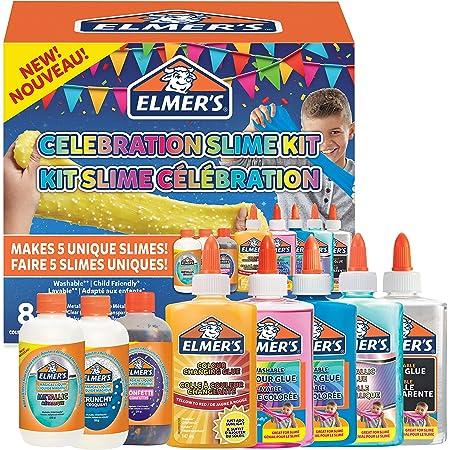 Elmer's Kit slime per le feste | La fornitura di slime include attivatori liquido magico per slime assortiti e colle liquide assortite | 8 pezzi