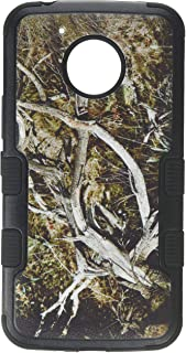 MyBat Cell Phone Case for Motorola XT1773, Moto E4 Plus - Natural Yellow/Black Vine/Black Solid