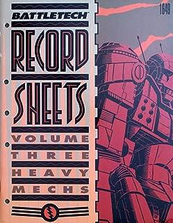 Battletech Record Sheets: Volume Three (Heavy Mechs)