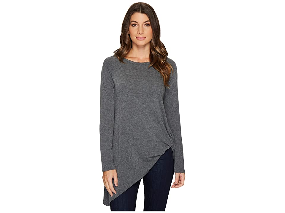 Karen Kane Asymmetric Pick Up Sweater (Dark Heather Grey) Women