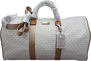 Michael Kors Michael Kors Leather Travel Logo Duffle Large Bag Printed Duffel Luggage