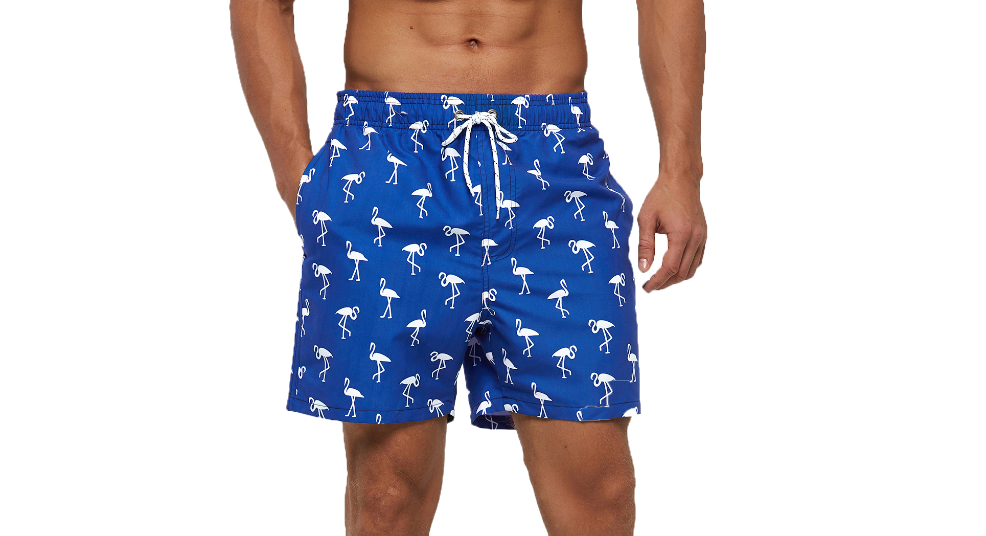 SILKWORLD Men's Swim Trunks Quick Dry Athletic Swimwear Shorts with Mesh Lining and Pockets