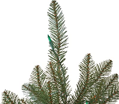 7.5-foot Dunhill Fir Pre-Lit Multi-Colored Light Hinged Artificial Christmas Tree