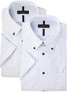 [スティングロード] ワイシャツ 超形態安定 半袖 ノーアイロンシャツ 2枚セット ボタンダウン ニットシャツ クールビズ メンズ