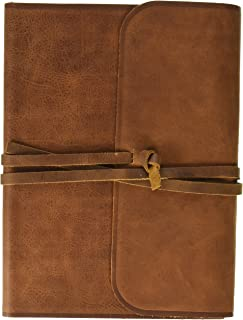 ESV Single Column Journaling Bible, Large Print (Brown, Flap with Strap)