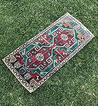 Vintage Handmade Turkish Oushak Rug, Low Pile Oriental Small Oushak Runner, Tribal Anatolian Runner, Mat Rug, 1'9