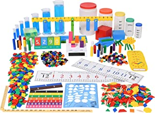 edx education Classroom Math Kit - For Grades 3 and 4 - Teach Math Lessons - Includes 16 Versatile Teaching Resources and Manipulatives