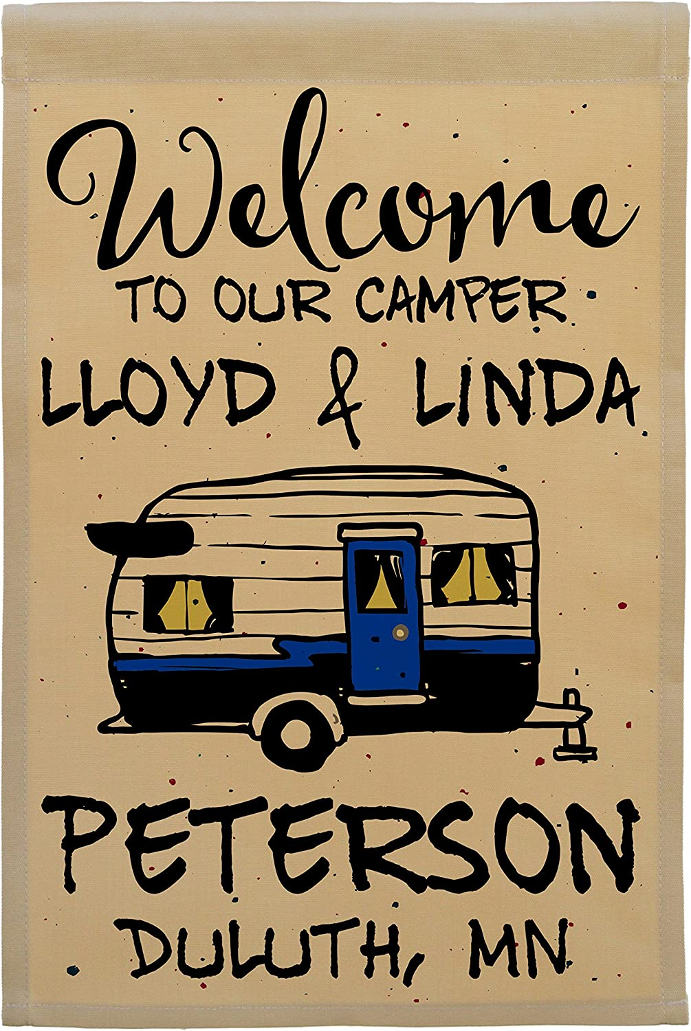 Welcome to Our Camper Personalized Traile Flag Ranking TOP6 Campsite 2021 spring and summer new Vintage