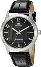 Orient Men's Howard Stainless Steel Japanese-Automatic Watch with Leather Calfskin Strap, Black, 22 (Model: FAC05006B0)
