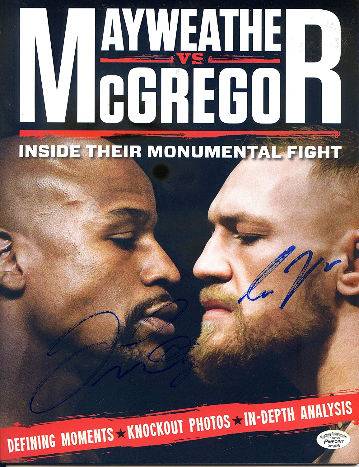 Floyd Mayweather Attention brand Jr. and Free Shipping New Conor Autographed McGregor Signed Dual