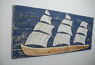 Ship Sailboat Sail Boat Wood Wall Art Reclaimed Wood Ship Sofa Art, Nautical Sign Sailboat Art Sailboat Decor Wood Ship Beach Decor