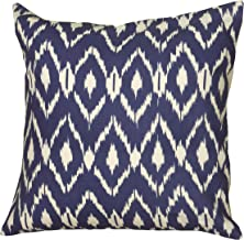 Rizzy Home Throw Pillow, 18 x 18, Navy