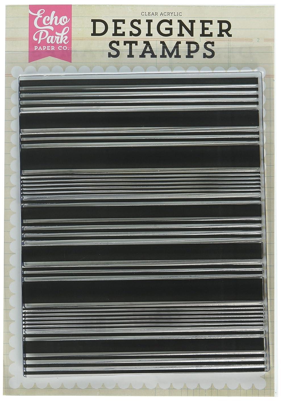 Echo Park Paper Company EPSTAMP127 Stripe A2 Stamp Set
