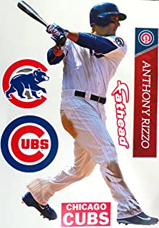 FATHEAD Anthony Rizzo Graphics Chicago Cubs Logo Set Official MLB Vinyl Wall Graphics 17