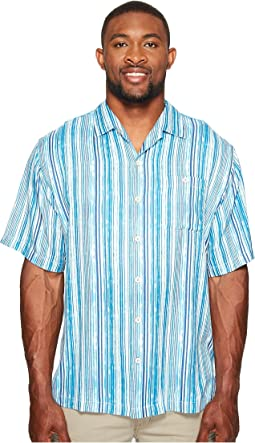 Tommy Bahama Big & Tall Big & Tall Stripe Me to Paradise Camp Shirt