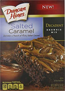Duncan Hines Decadent Brownie Mix, Salted Caramel, 17.6 oz