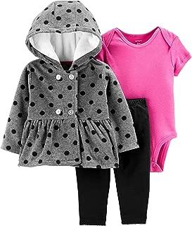 Carter's Baby Girls 3 Piece Little Jacket Set (Polka Dot)
