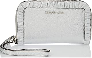 Michael Kors Clutch for Women- Silver