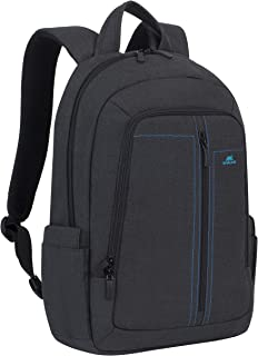 "RivaCase 7560 black Laptop Canvas Backpack 15,6"" / 6"