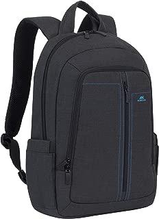 "RivaCase 7560 black Laptop Canvas Backpack 15,6"" / 6"