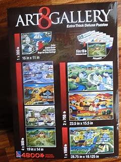 Art Gallery 8 x Puzzle Box Set Americana and Folk Art puzzles