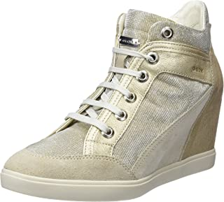 GEOX D Eleni C Womens Suede Wedge Sneakers/Boots