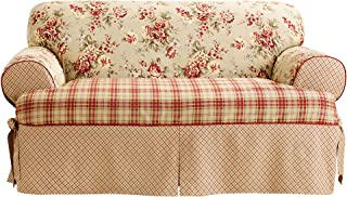 SureFit Lexington Relaxed Fit 1 Piece Box Cushion Loveseat Slipcover, Multi