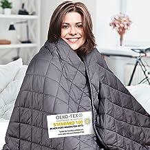 Couverture lestée Comodo – Couverture thérapeutique – 7,2kg,152x203cm – Couverture lestée – 100 % Coton – pour soulager Le...