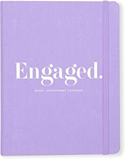 Kate Spade New York Bridal Appointment Calendar, Undated with Weekly and Monthly Views, Engaged (Purple)