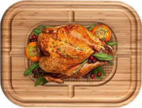 Best large wood cutting board with juice groove Reviews