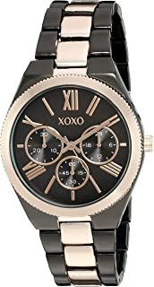 XOXO Womens Quartz Watch, Analog Display and Gold Plated Strap XO294