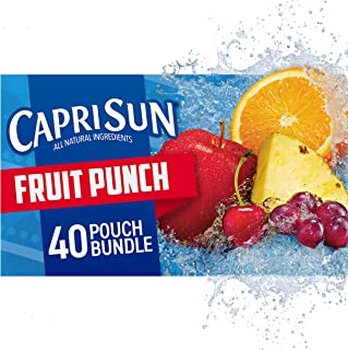 Capri Sun Fruit Punch Ready-to-Drink Juice (40 Pouches, 4 Boxes of 10)