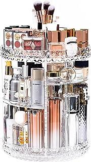 منظم للمكياج من دريم جينيوس، منظم تخزين مستحضرات التجميل دوار 360 درجة، حقيبة عرض مكياج قابلة للتعديل من 7 طبقات، تناسب ال...