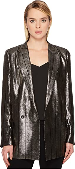 Metallic Long Boyfirend Jacket