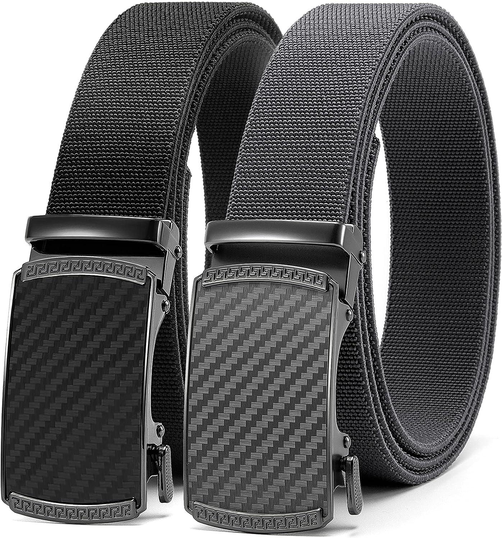 Max shipfree 45% OFF CHAOREN Elastic Stretch Golf Belt 2 Pack Nylon Ratchet Men