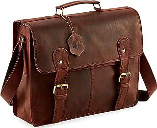 SC 15 inch Vintage Handmade Leather Messenger Bag for Laptop Briefcase Best Computer Satchel School Distressed Bag