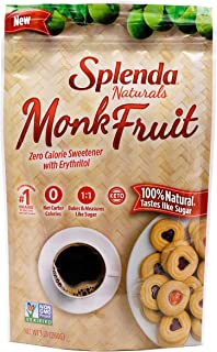 Sponsored Ad - SPLENDA Naturals Monk Fruit Zero Calorie All Natural Granulated Sweetener - 3 Lb Bag, Resealable