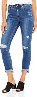 French Connection Women's Winter Distressed Jean, Blue (