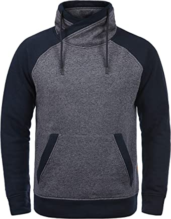 JACK & JONES Core Ridge Herren Sweatpullover Pullover Mit Cross-Over Kragen Stehkragen