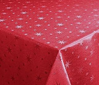 Lurex estrellas Mantel, Oro o plata brillante, Navidad