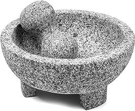 IMUSA USA MEXI-2011M Super Heavy Traditional Granite Molcajete Spice Grinder, 8-Inch, Gray, 8