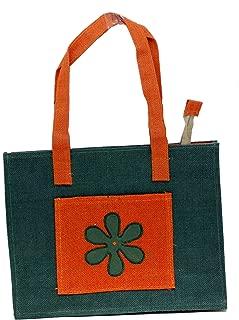 Eco Friendly Jute/Burlap Natural Large Grocery Shopping Tote Bag Hand Bag