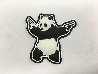 3D PVC Panda with Guns Shooting Panda Rubber PVC Morale Patch